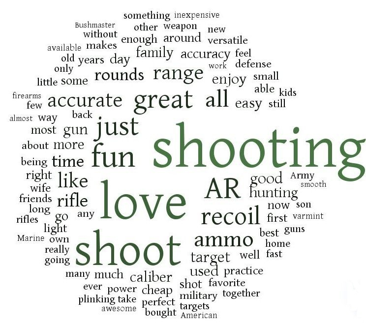 Why shooters love .223 word cloud