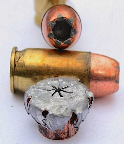 .45 JHP expanded bullet