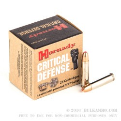 250 Rounds of .30 Carbine Ammo by Hornady Critical Defense - 110gr FTX