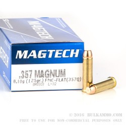50 Rounds of .357 Mag Ammo by Magtech - 125gr FMC