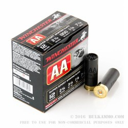 250 Rounds of 12ga Ammo by Winchester AA Sporting Clay - 1 1/8 ounce #7 1/2 shot
