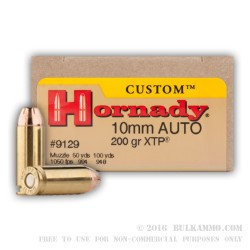 20 Rounds of 10mm Ammo by Hornady - 200gr JHP XTP