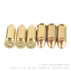 50 Rounds of .38 Super + P Ammo by Federal American Eagle - 130gr FMJ