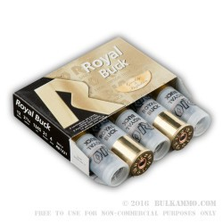"5 Rounds of 12ga Ammo by Rio Ammunition -  2-3/4"" #4 Buck"