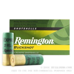 250 Rounds of 12ga Ammo by Remington Express -  #4 Buck