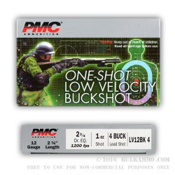 250 Rounds of 12ga Ammo by PMC -  #4 Buck