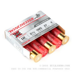 5 Rounds of 12ga Ammo by Winchester -  #4 Buck