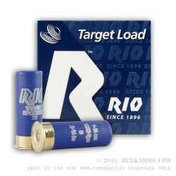 25 Rounds of 12ga Target Ammo by Rio - 1 1/8 ounce #8 shot