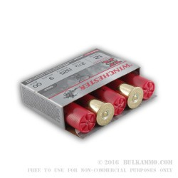 5 Rounds of 12ga Ammo by Winchester Super X-  00 Buck