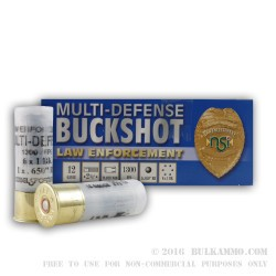 250 Rounds of 12ga Ammo by NobelSport -  #1 Buck