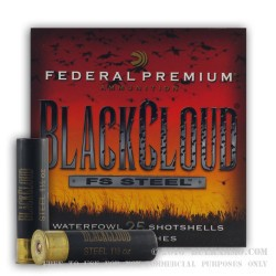 "25 Rounds of 12ga 3-1/2"" Ammo by Federal Black Cloud - 1 1/2 ounce #2 Shot (Steel)"