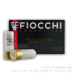 250 Rounds of 12ga High Velocity Ammo by Fiocchi -  00 Buck