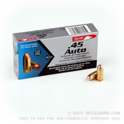 50 Rounds of .45 ACP Ammo by Aguila - 230gr FMJ