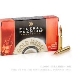 200 Rounds of .308 Win Ammo by Federal Sierra Match King - 168gr HPBT