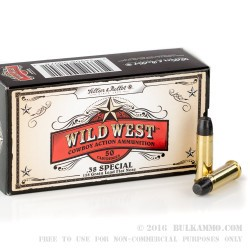 1000 Rounds of .38 Spl Ammo by Sellier & Bellot - 158gr LFN