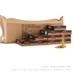 200 Rounds of .223 Ammo by PMC - 55gr FMJBT - Battle Pack