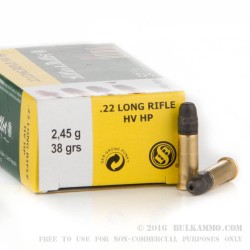 500 Rounds of .22 LR Ammo by Sellier & Bellot - 38gr HP