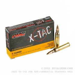 1000 Rounds of 5.56x45 Ammo In Plastic Battle Packs by PMC - 55gr FMJ