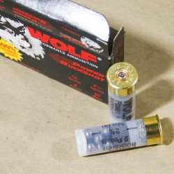 5 Rounds of 12ga Ammo by Wolf -  00 Buck