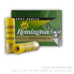 5 Rounds of 20ga Ammo by Remington - 5/8 ounce Copper Solid Sabot Slug