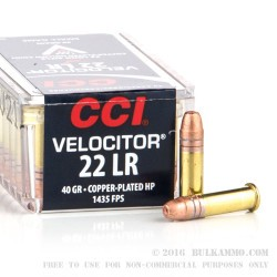 5000 Rounds of .22 LR Ammo by CCI - 40gr CPHP
