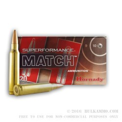 20 Rounds of .223 Ammo by Hornady - 75gr HPBT