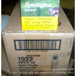 500  Rounds of .22 LR Viper Ammo by Remington - 36gr TC-SB