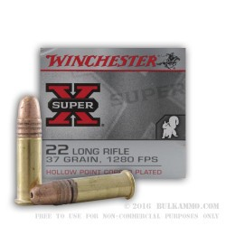500  Rounds of .22 LR Ammo by Winchester Super-X - 37gr CPHP