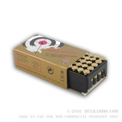 50 Rounds of .22 LR Ammo by SK Rifle Match - 40gr LRN