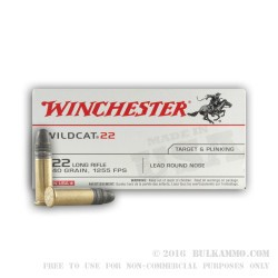 500 Rounds of .22 LR Ammo by Winchester Wildcat - 40gr LRN