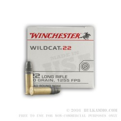 5000 Rounds of .22 LR Ammo by Winchester Wildcat - 40gr LRN