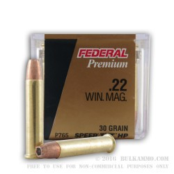 50 Rounds of .22 WMR Ammo by Federal - 30gr JHP TNT