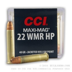 2000 Rounds of .22 WMR Ammo by CCI - 40gr CPHP