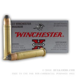 50 Rounds of .22 WMR Ammo by Winchester - 40gr JHP