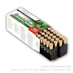40 Rounds of .22-250 Rem Ammo by Remington - 50gr JHP