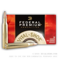 20 Rounds of 25-06 Remington Ammo by Federal - 117gr SPBT
