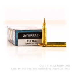 20 Rounds of .223 Ammo by Federal - 55gr SP