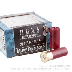 "250 Rounds of 12ga Ammo by Federal Game-Shok - 2-3/4"" 1-1/8 ounce #4 shot"