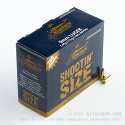 250 Rounds of 9mm Ammo by Magtech - 115gr FMC