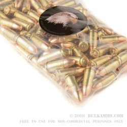1000 Rounds of 9mm Ammo by MBI - 115gr FMJ
