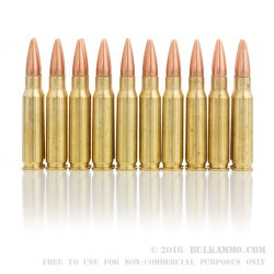 20 Rounds of .308 Win Ammo by Hornady - 155gr OTM Match