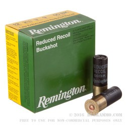250 Rounds of 12ga Ammo by Remington LE Reduced Recoil - 00 Buck - 9 Pellet