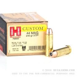 200 Rounds of .44 Mag Ammo by Hornady - 240gr JHP