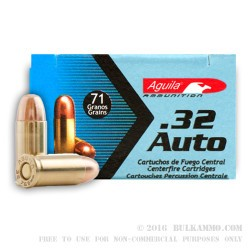 1000 Rounds of .32 ACP Ammo by Aguila - 71gr FMJ