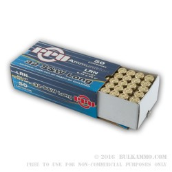 50 Rounds of .32S&W Long Ammo by Prvi Partizan - 98gr LRN