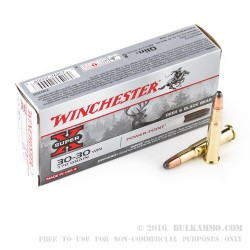 20 Rounds of 30-30 Win Ammo by Winchester - 170gr PP
