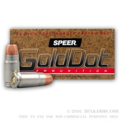 50 Rounds of .357 SIG Ammo by Speer LE Gold Dot - 125gr HP