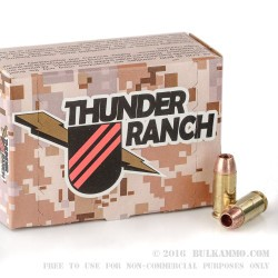 20 Rounds of .40 S&W Ammo by Corbon Thunder Ranch - 140gr DPX