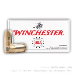 50 Rounds of .380 ACP Ammo by Winchester - 95gr BEB