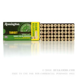 50 Rounds of .38 Spl Ammo by Remington - 148gr Lead Wadcutter